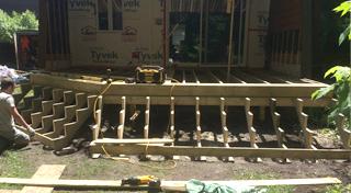 Informations techniques sur la construction et le design for Recouvrement de patio en bois
